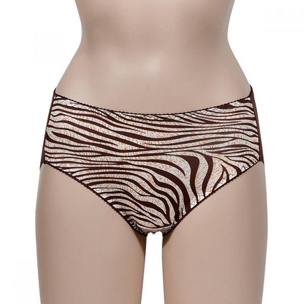 우아한 지브라 패턴 매쉬 햄라인 여성 삼각팬티 (창민 상품이미지