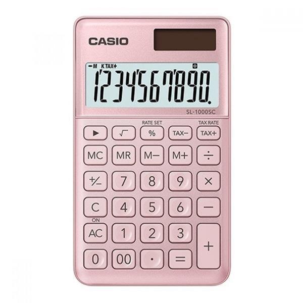 카시오 계산기 SL-1000SC 핑크 10자리 MO 상품이미지