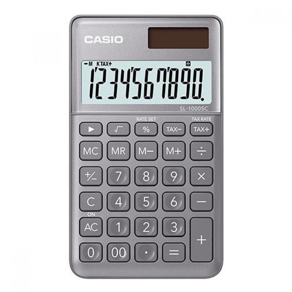 카시오 계산기 SL-1000SC 그레이 10자리 MO 상품이미지