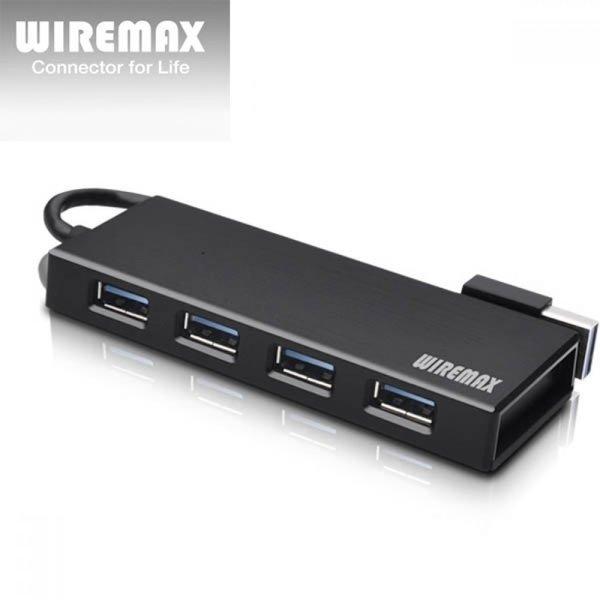 와이어맥스 USB 3.0 4포트 허브 US4 블랙 상품이미지