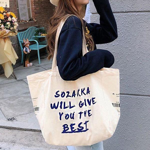 일러스트 에코백 캔버스백 여성가방 무지가방 숄더 상품이미지