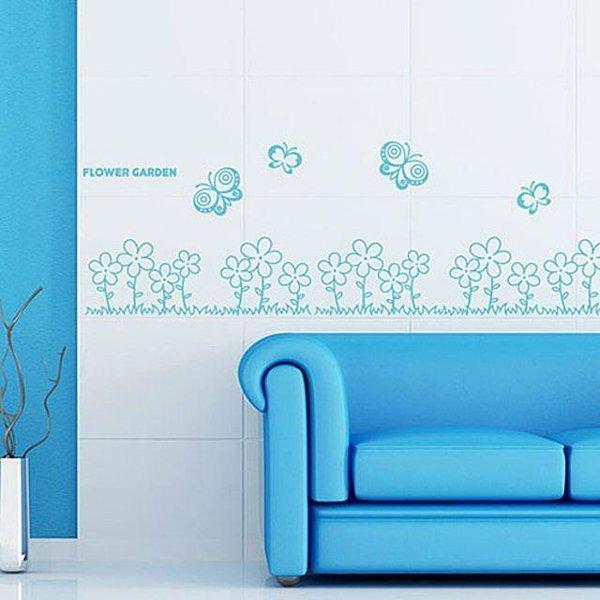 꽃과나비 포인트그래픽스티커 시트지 인테리어소품 상품이미지