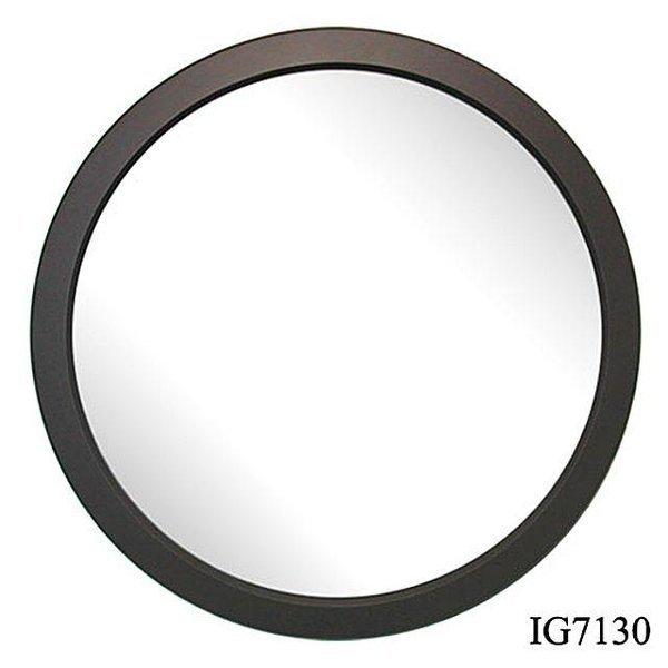 월넛 원형 벽거울 28cm(IG7130) 인테리어 거울 집들 상품이미지