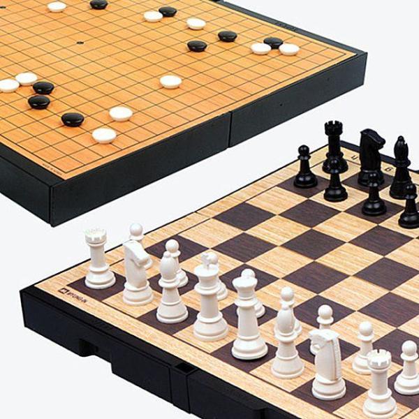 명인 M-250 중형 바둑-체스(양면) 명인랜드 가로세 상품이미지