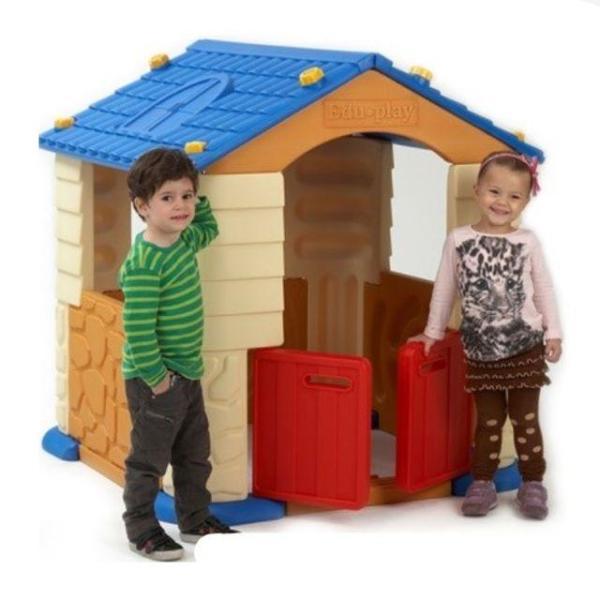 에듀놀이집 플레이하우스3 블루 놀이집+미끄럼틀 상품이미지