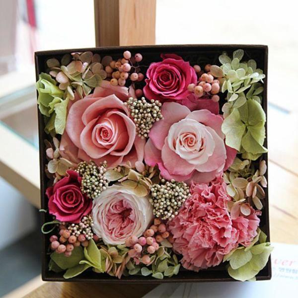 플라워박스- 핑크(기념일선물 생일선물 화이트데이 상품이미지
