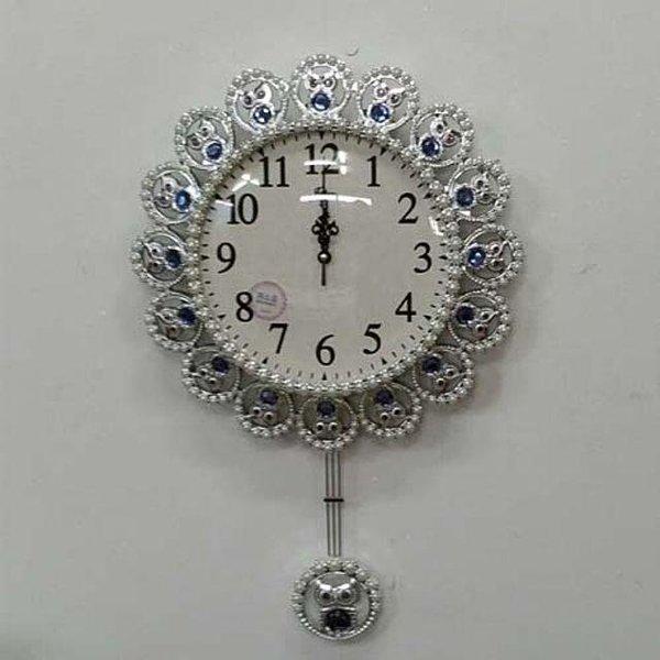 다발부엉이링벽시계 벽시계 부엉이시계 큐빅시계 인 상품이미지