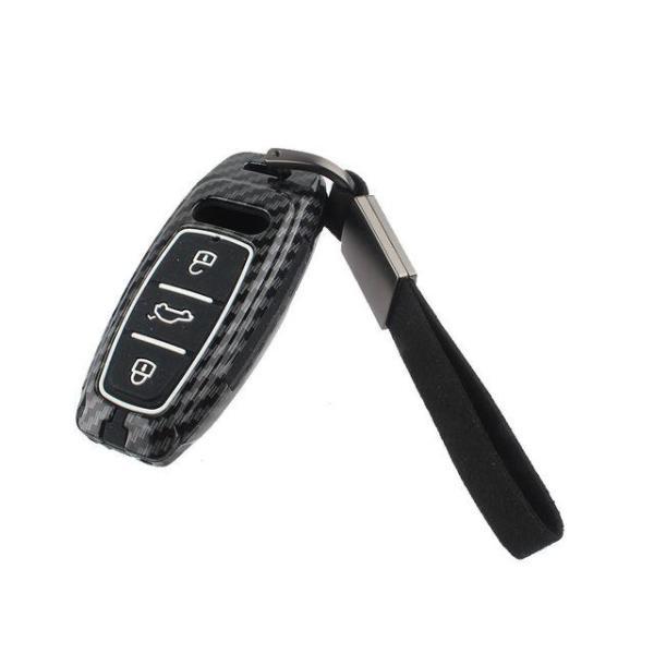 아우디 키케이스 Audi-AB3 카본 실리콘 키홀더 키지 상품이미지