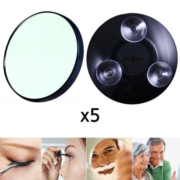 흡착식 5배 확대거울 거울 흡착거울 화장소품 미용 상품이미지