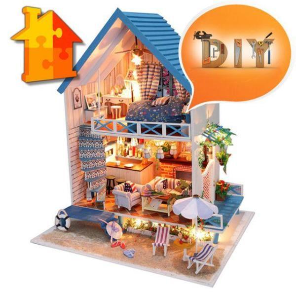 DIY 돌하우스 로맨틱해변별장 미니어쳐 만들기 상품이미지