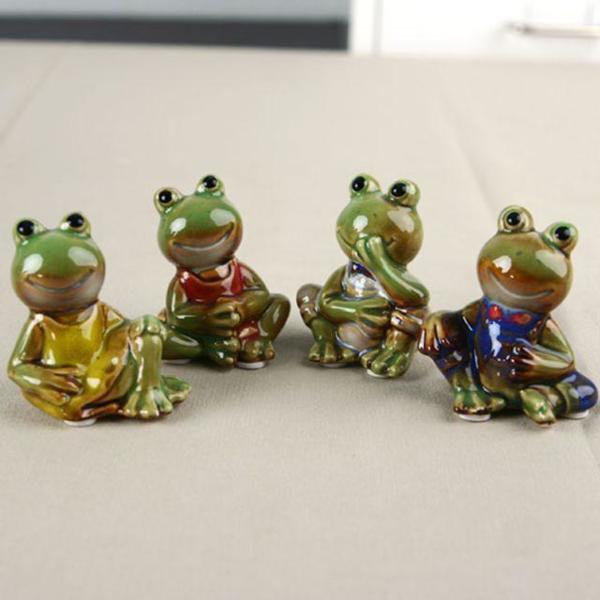 개구리 가족(4p) 도자기인형 미니어처 장식소품 인 상품이미지
