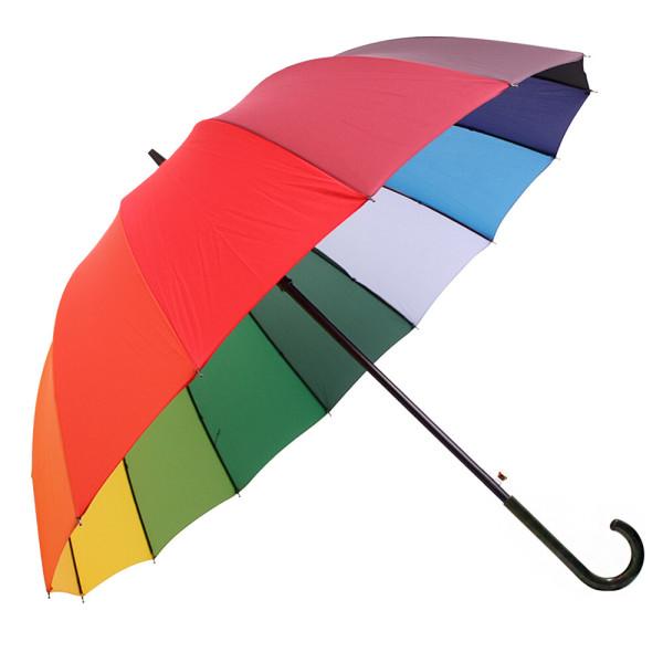 무지개 일자/곡자 자동장우산 무료배송 상품이미지