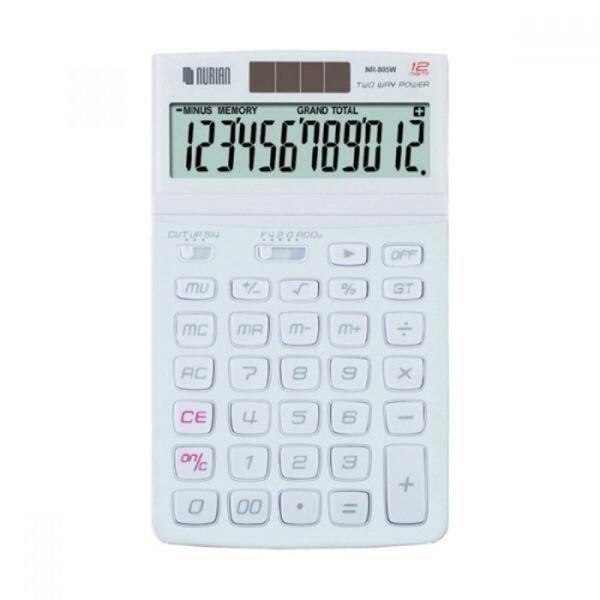 누리안 계산기 NR-805W 화이트 12자리 MO 상품이미지