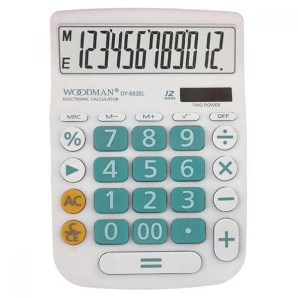 우드맨 계산기 DY-882 블루 12자리 MO 상품이미지