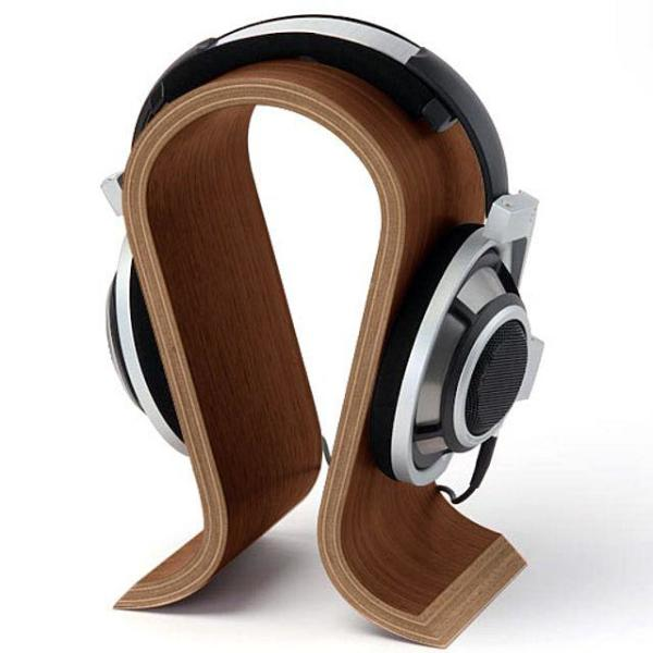 OMEGA Premium Sound Wood Headphone Stand 헤드폰 상품이미지