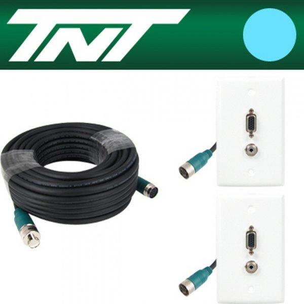 TNT RGB+스테레오 월 플레이트 분리형(배관용) 케이블 상품이미지