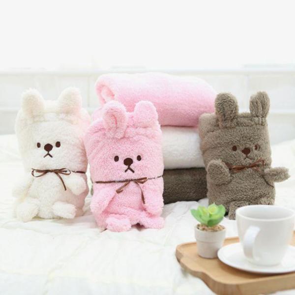 따뜻한 겨울 귀여운 토끼인형 극세사 무릎담요 CHUB 상품이미지