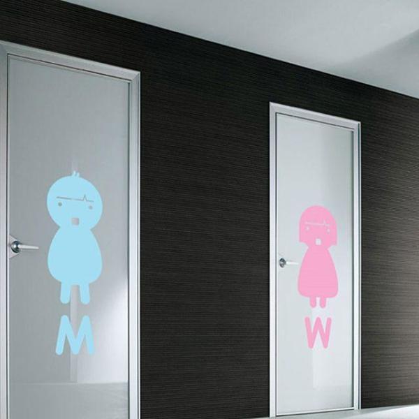 그래픽스티커 MW남자여자 캐릭터-화장실남녀 (중형) 상품이미지