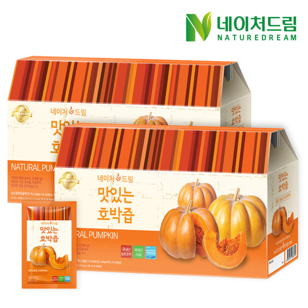 네이처드림 맛있는 호박즙 30포 2박스/건강즙 선물 상품이미지