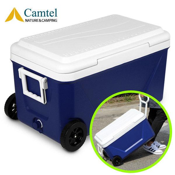 캠핑용 바퀴달린 대형  아이스박스 50리터/블루 낚시 상품이미지