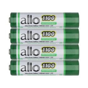 제이티원/allo 1100 AAA충전지 4알/케이스포함
