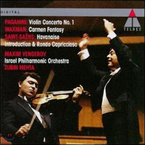 파가니니 : 바이올린 협주곡 1번  생상스 : 서주와 론도 카프리치오소   왁스만: 카르멘 환상곡 - 막심 벤게로프 상품이미지
