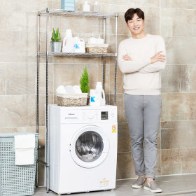 리벤스 세탁기(욕실)철제 메탈선반 (750) 무볼트 조립