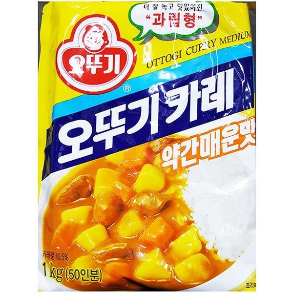 중간맛 카레 (오뚜기 1K) X10-약간매운맛카레 카레 카 상품이미지