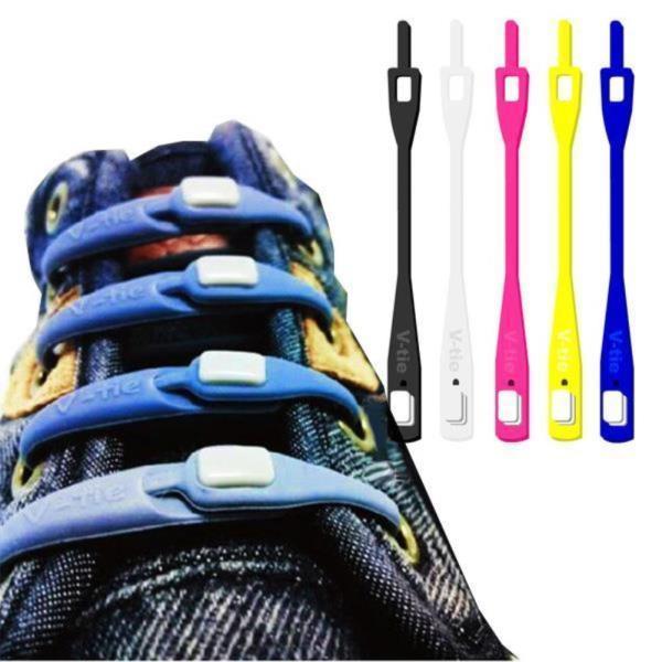 V타이 실리콘 신발끈 운동화 고정줄 100매 상품이미지