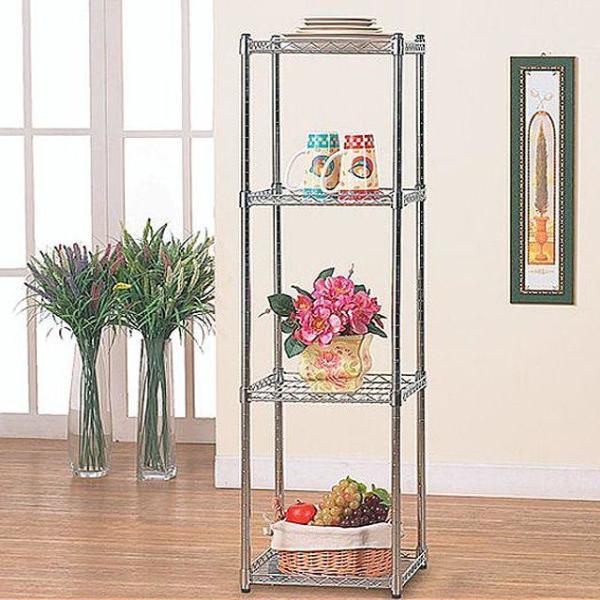 가정용 메탈랙(350) 4단 수납장 진열대 국내생산 상품이미지