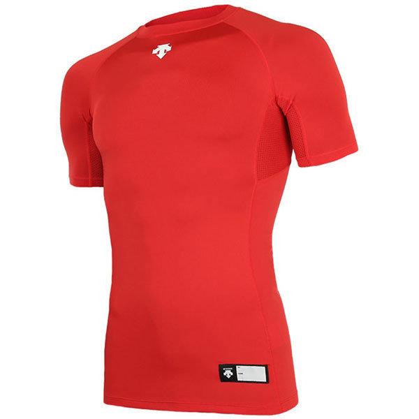 데상트 S7221ZPC04 절개 라운드 반팔 언더셔츠 적색 상품이미지