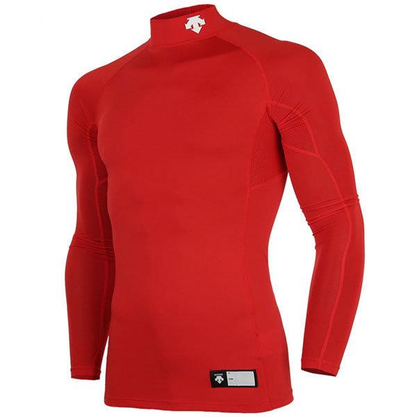 S7221ZPC01 데상트 절개 하프넥 긴팔 언더셔츠 적색 상품이미지
