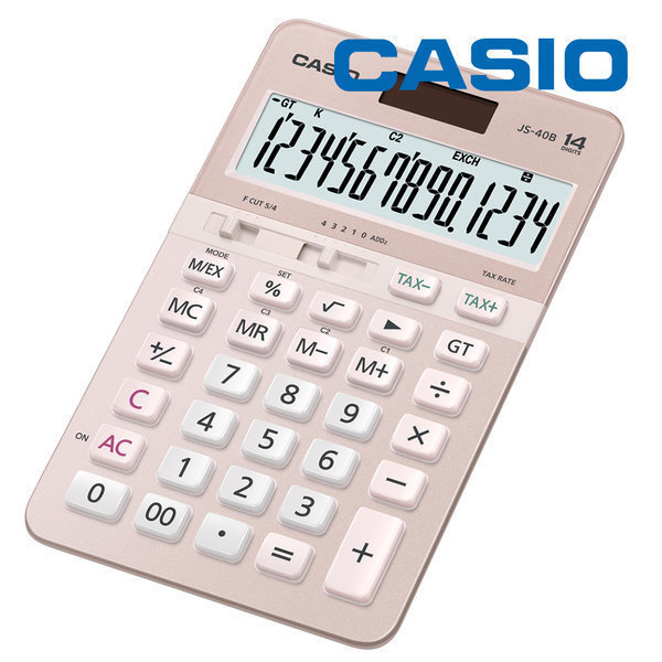 JS-40B 핑크 전자계산기 14단 사무용 추천 정품 CPA 상품이미지