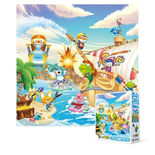 240피스 직소퍼즐 - 뽀로로 해적섬의 여름 (미니) 상품이미지