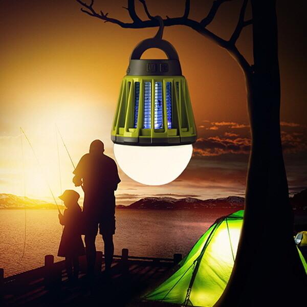 2in1해충킬러 LED 캠핑랜턴 해충 모기퇴치기 캠핑용품 상품이미지