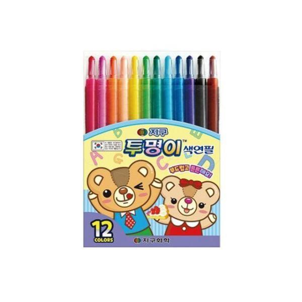 지구 투명이 색연필 12색 상품이미지
