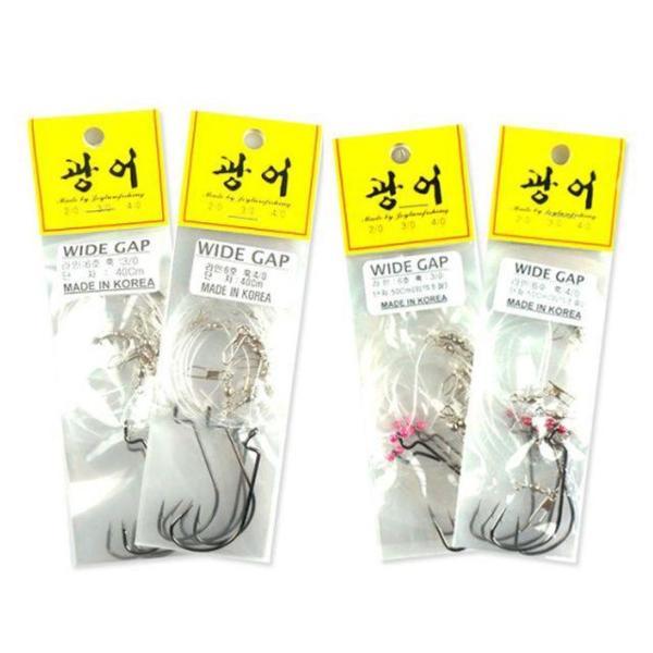 씨타임 국산 광어채비 와이드갭훅 광어다운샷 상품이미지