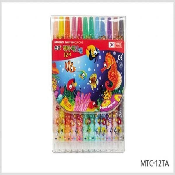 문교 12색 해마 색연필  사인펜 색연필 색연필 상품이미지