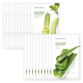 [NATURE REPUBLIC] 10+10 Real Nature Essence Mask Pack/Pack Cucumber+Aloe