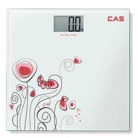 카스 디지털 체중계 플라워무늬 HE-47