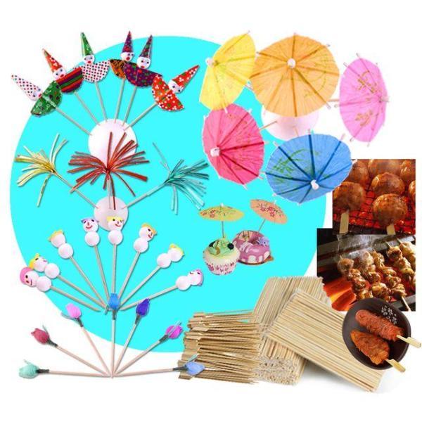 과일꽂이(파라솔모양) 대나무꼬지  핫바스틱 오뎅꼬 상품이미지