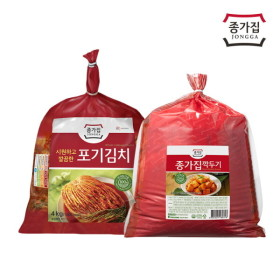 [종가집] (기획)포기김치 4kg+깍두기 3kg