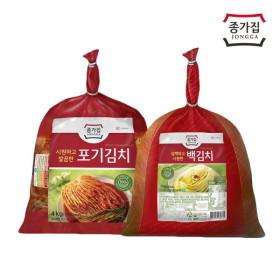 [종가집] 포기김치 4kg+백김치 3kg