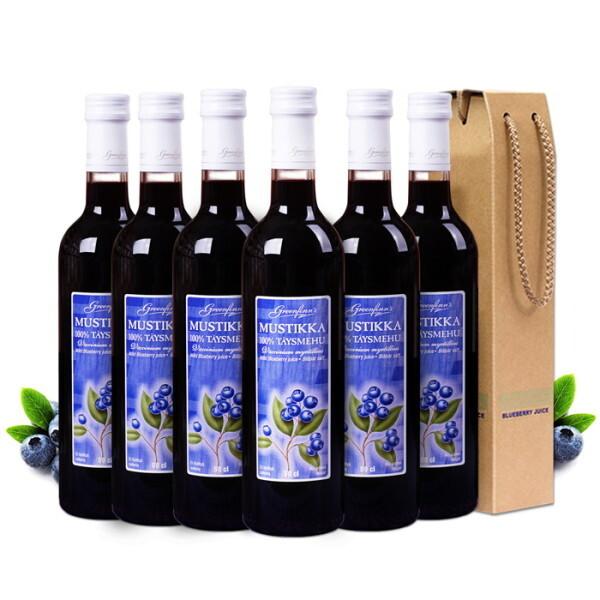 FINLANDIA   핀란디아  그린핀스 핀란드 유기농 블루베리 원액 500ml 6병 상품이미지