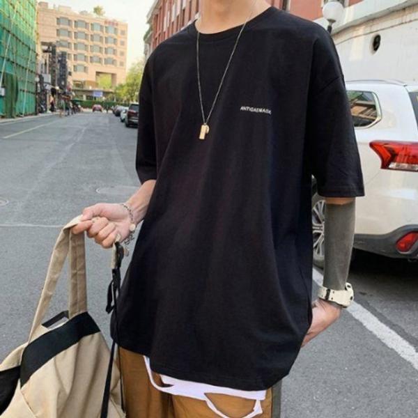 BYC라운드T 흰색라운드티셔츠 상품이미지