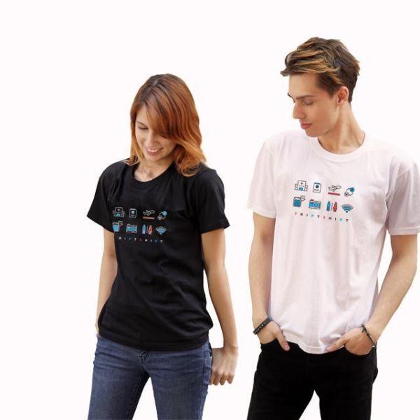 (해외여행필수품) 트립티셔츠 여성 - 심플칼라 상품이미지