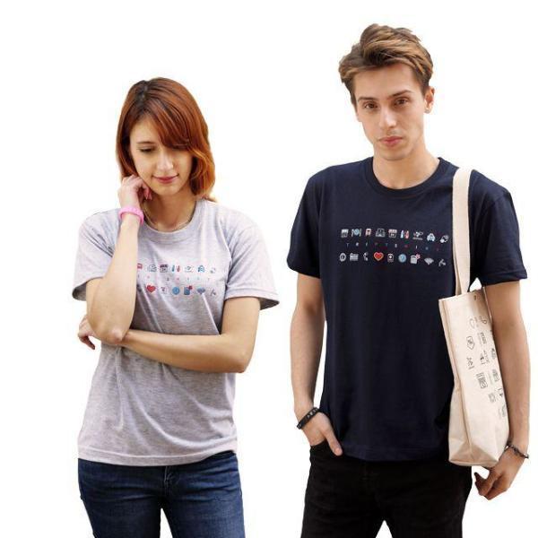 (해외여행필수품) 트립티셔츠 남성 - 라이트칼라 상품이미지