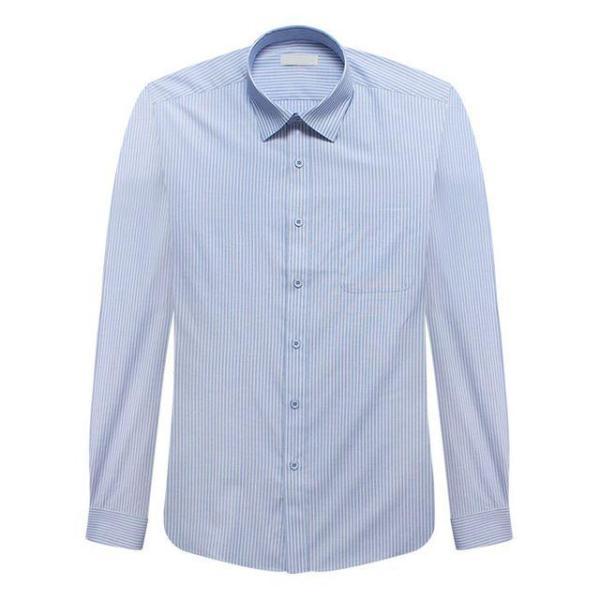 레귤러 블루 스트라이프 패턴 긴팔셔츠 상품이미지