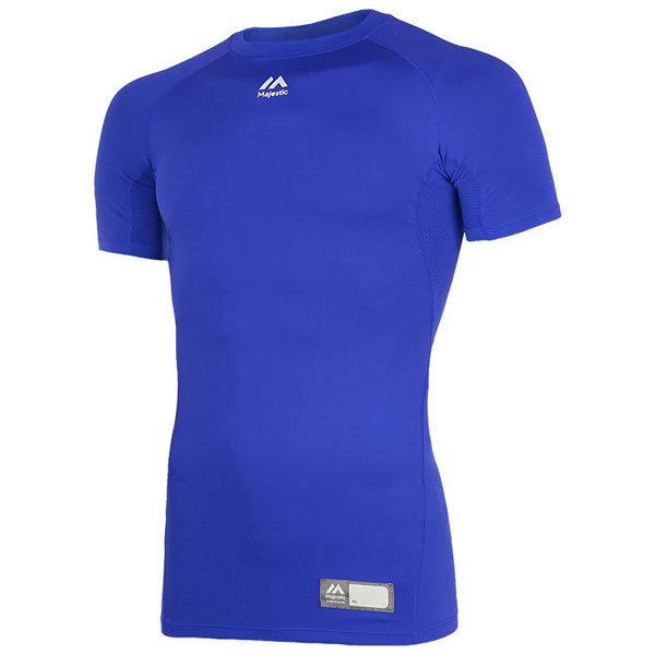 ML172MBAIS003 마제스틱 절개 반팔 언더셔츠 청색 상품이미지