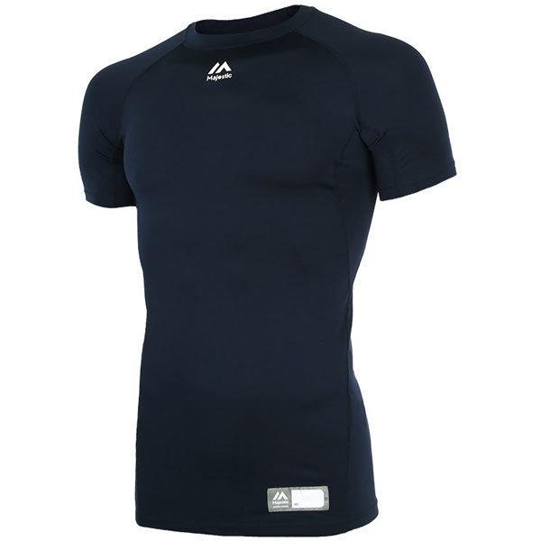 ML172MBAIS002 마제스틱 절개 반팔 언더셔츠 남색 상품이미지